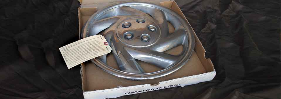 Read the stories of deceased hubcaps.